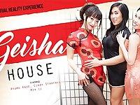 Ayumu Kase  Cindy Starfall  Mia Li in VRB Geisha House - VRBangers