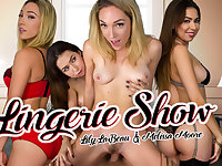 Lily LaBeau  Melissa Moore in Lingerie Show - WankzVR