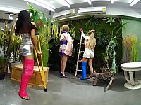 2 Girls With Long Cast Leg Visit A Flower Store Part 2 - VRPussyVision