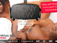 Jai James in Ebony view - VirtualRealPorn