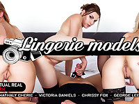 Chrissy Fox  George Lee  Nathaly Cherie  Victoria Daniels in Lingerie models - VirtualRealPorn