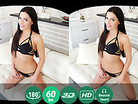 Eveline Dellai in Brunette Plays With Herself - TMWVRNet